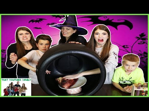 WHAT IS IN THE CAULDRON CHALLENGE Gross Slime, Real Food, GIANT GUMMY - Orbeez / That YouTub3 Family