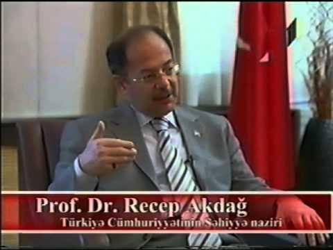 Professor Vugar Mammadov.Interview with Minister of Health of Turkey Recep Akdag. ITV