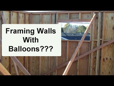 What is Balloon Wall Framing? – Home Building Construction Methods