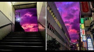 Siêu bão nhuộm tím cả bầu trời Nhật Bản!