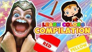 Wonder Woman Learn Colors Comp | WigglePop