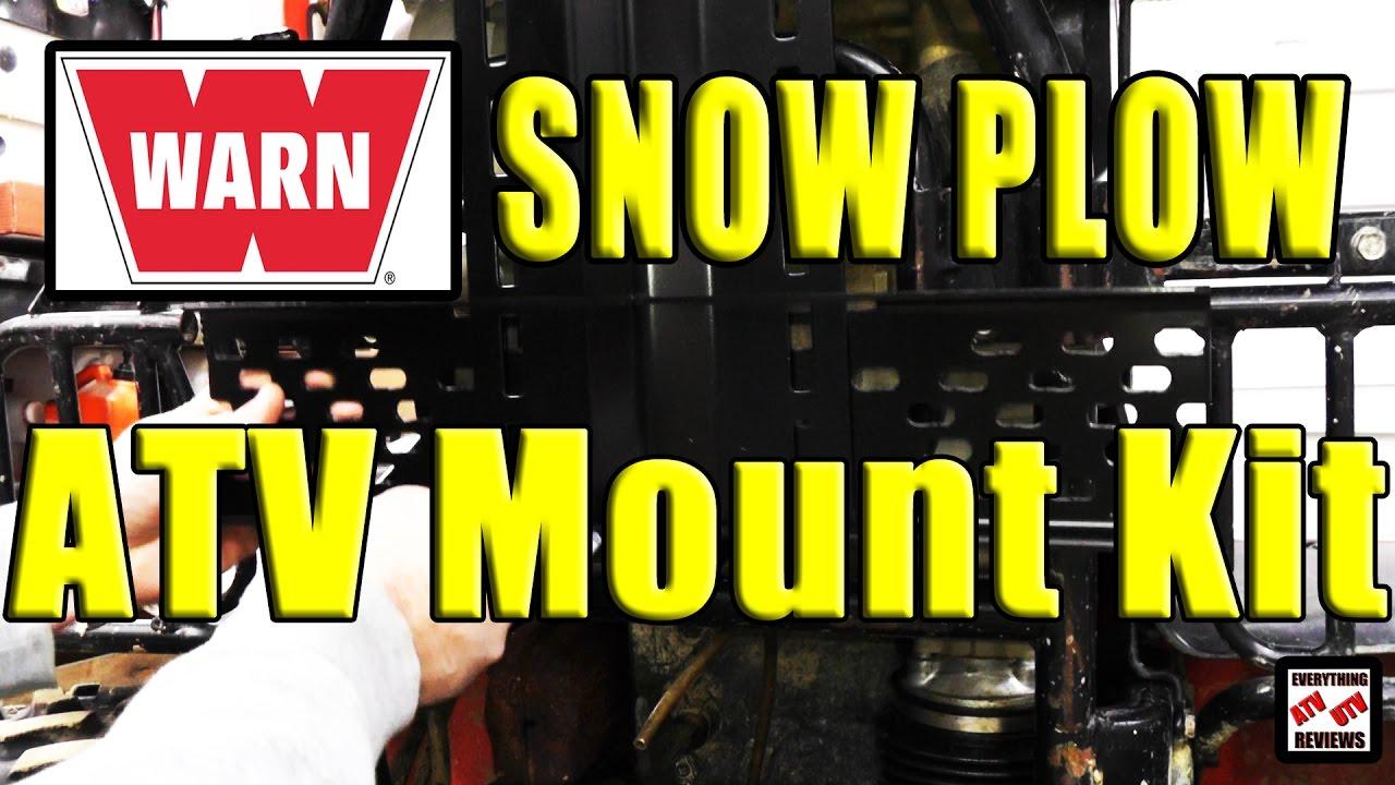 Warn Universal Atv Snow Plow Mount Kit Install 91810 Youtube Wiring Diagram For Kawasaki Prairie 360 Premium