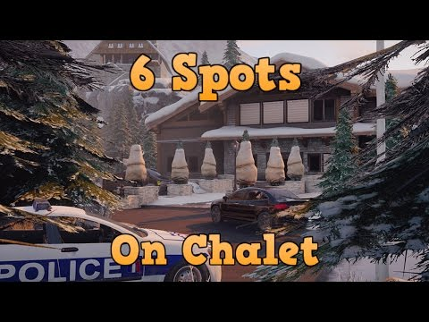 6 Hiding Spots/Glitches on Chalet! Rainbow Six Siege