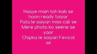 FEVICOL SE LYRICS - Dabangg 2