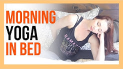 10 min Morning Yoga Stretch IN BED - Beginner Yoga At Home