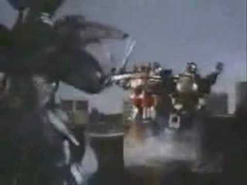 Mighty Morphin Power Ranger Old-School Megazord Battle (Cyclopsis)