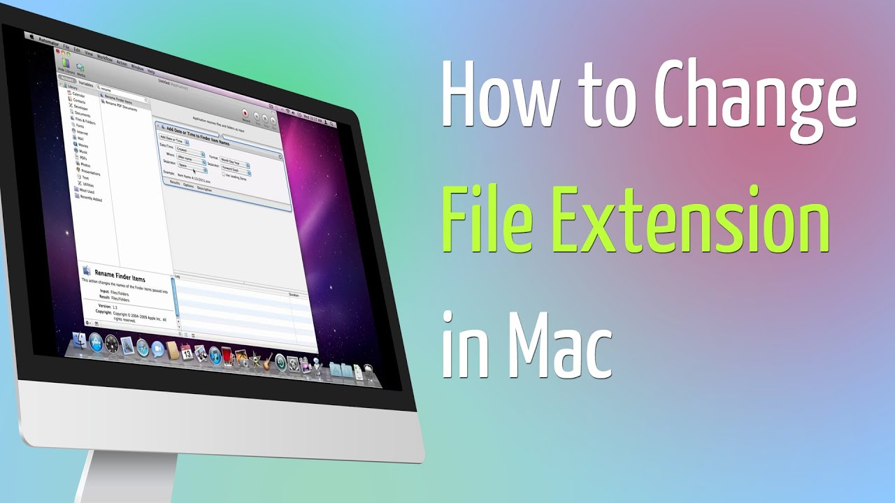 how to change file extension in mac youtube. Black Bedroom Furniture Sets. Home Design Ideas