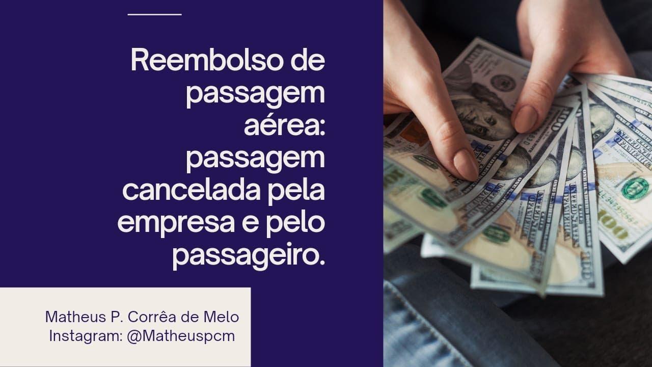 REEMBOLSO DE PASSAGENS AÉREAS EM TEMPOS DE PANDEMIA.