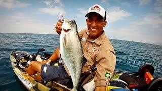 Pescaria de Caiaque - AS Cruise 320 - Pegadeira de Galos Grandes na Costeira Big Guaivira no Corrico