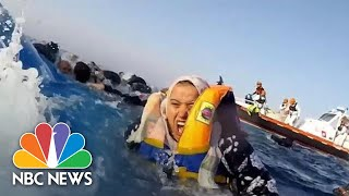 Rescuers Save Dozens After Boat Capsizes In Mediterranean Sea | NBC News
