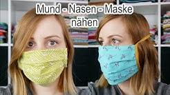 Mund-Nasen-Maske nähen | 2 Varianten