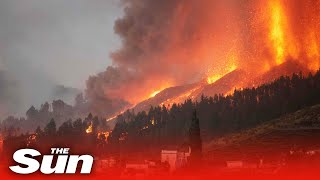 Lava spews from La Palma volcano as eruptions enter fifth day