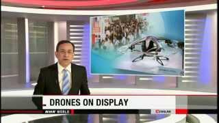 Internatial Drone EXPO 2015 in JAPAN NHK WORLD's Mikiko Suzuki repo...