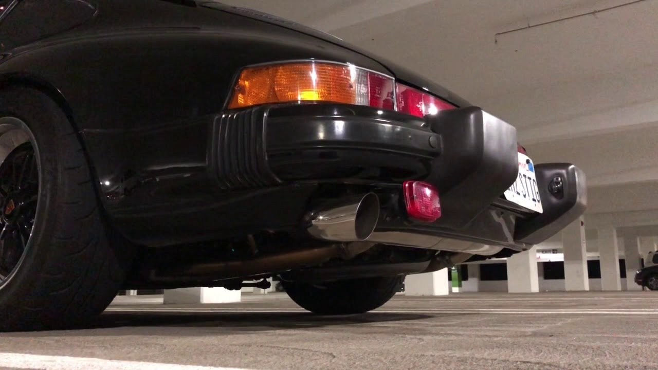 Garage Parking Stop >> PORSCHE 911SC SSI DANSK SPORT EXHAUST - YouTube