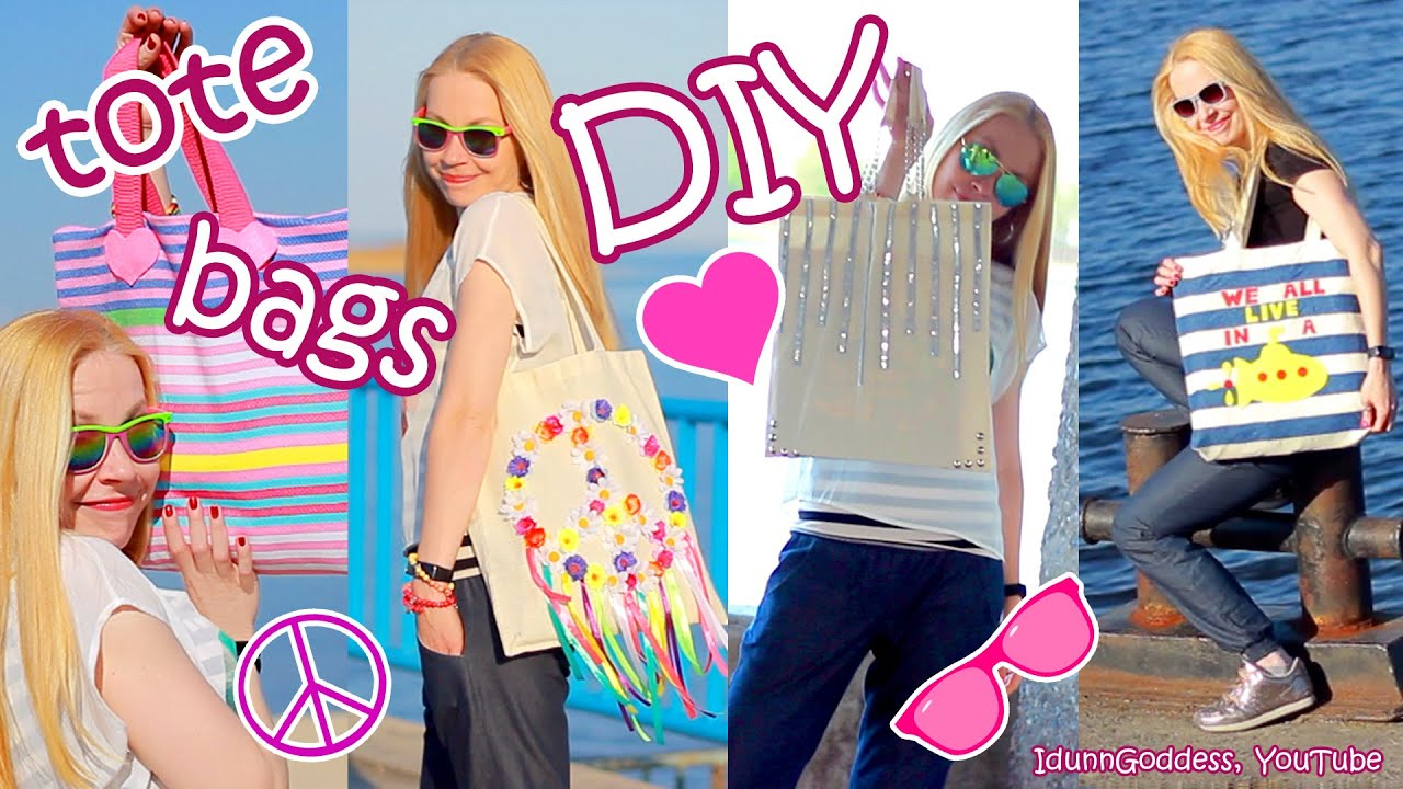 DIY Tote Bags – How To Make And Decorate Tote Bags – easy tutorial ...