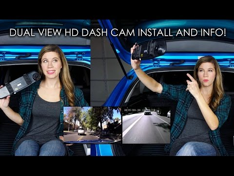 DUAL VIEW HD DASH CAM INSTALL AND INFO!