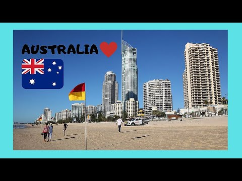 GOLD COAST (AUSTRALIA)- magnificent SURFERS PARADISE BEACH (Queensland)