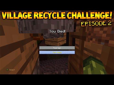 Minecraft Xbox - Village Recycle Challenge - Mistakes Were Made Episode 2