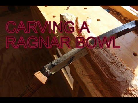 Carving a Ragnar Bowl/Vikings Tribute