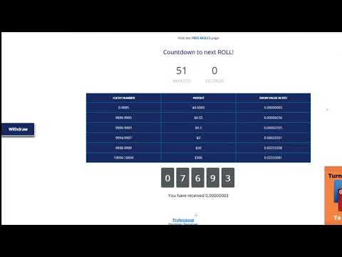 Roll and Earn Bitcoin - YouTube