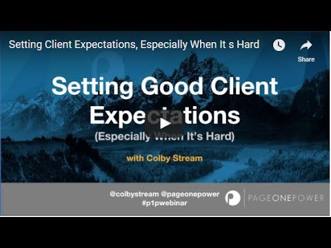 Setting Client Expectations, Especially When It's Hard