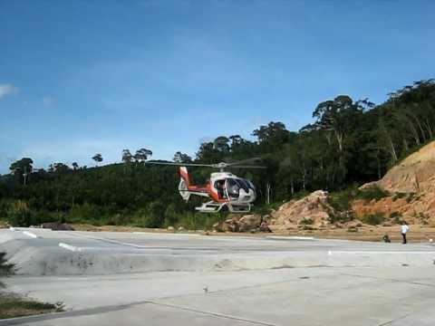 Skydance Helicopters take-off Phuket heliport Sa Khu