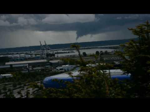 Tornade et Orage fort au Havre en Mai 2017 - Tornado in France and Thunderstorm
