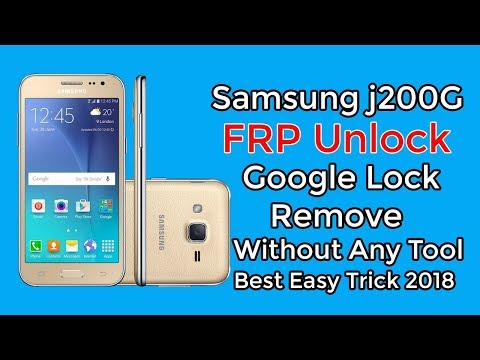 Samsung J200G FRP Unlock Google Account Bypass Without Any