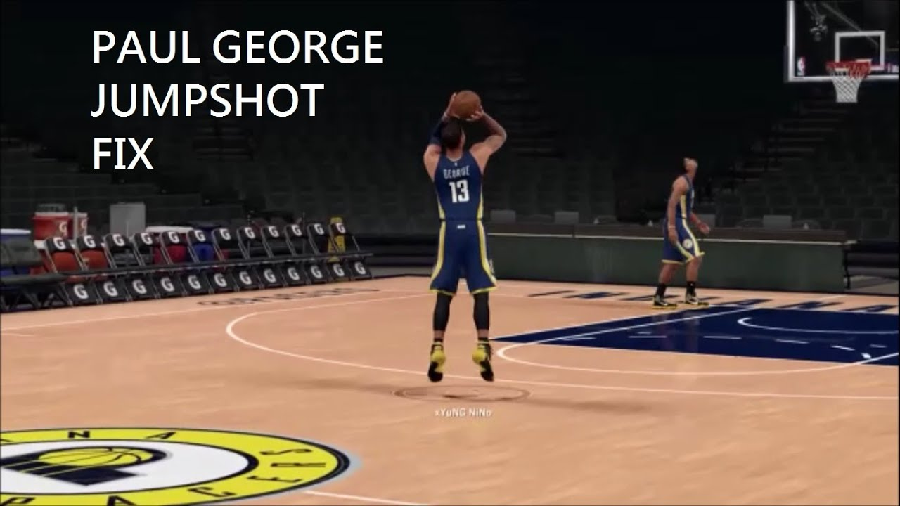 Updated- 2k16 Paul George Jumpshot Fix - YouTube