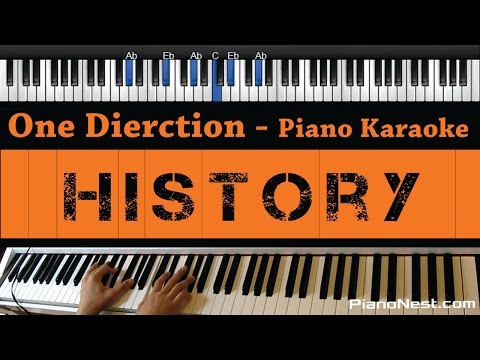 One Direction - History - Piano Karaoke / Sing Along / Cover with Lyrics