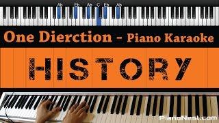 One Direction - History - Piano Karaoke / Sing Along / Cover with Lyrics Mp3