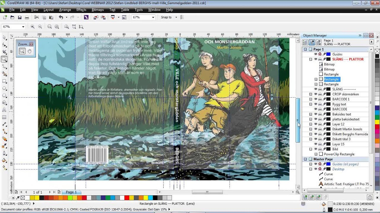 Book Cover Design Corel Draw : Coreldraw tutorial creating an illustration for use in a