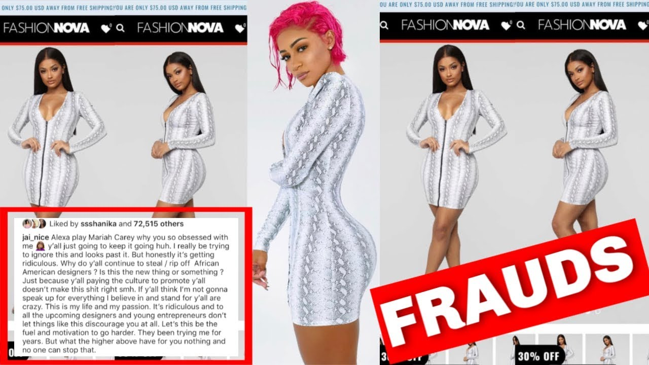 "FRUADULENT: THE TRUTH BEHIND FASHION NOVA AND HOW THEY STEAL FROM BLACK DESIGNERS ON ""IG"""