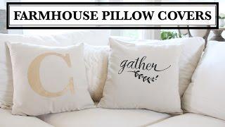 DIY Farmhouse Pillow Covers - Almohadas decorativas