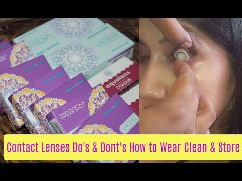 All about Contact Lenses- Do's & Dont's | How to Clean & Wear Lenses | Best Contact Lenses India