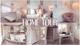FULL HOME TOUR   LUXE ON A BUDGET   white & grey interior/shop my home ✨