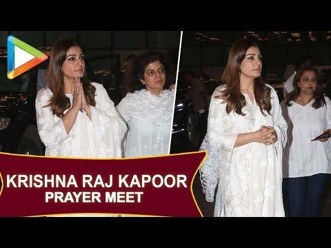 Late Krishna Raj Kapoor's Prayer Meet   Amitabh Bachchan, Rekha, Madhuri Dixit & others   Part 3