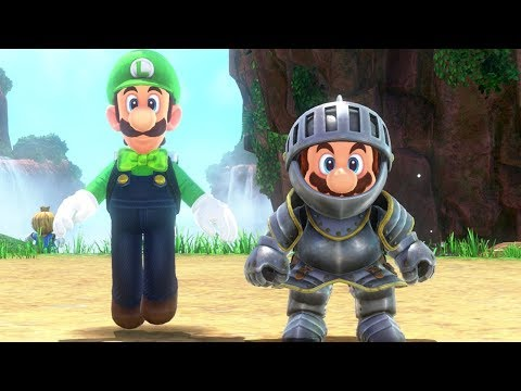 Super Mario Odyssey - Knight Outfit (Luigi's Balloon World DLC)