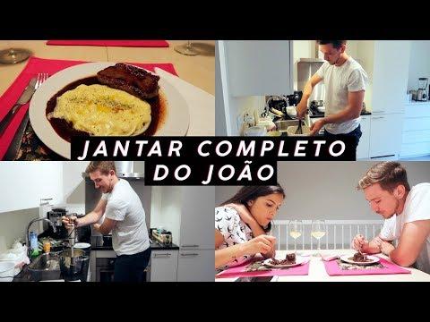 JANTAR COMPLETO DO JOÃO: entrada, prato principal e sobremesa!