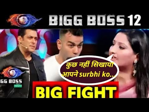 BIGG BOSS 12 : shocking! salman khan के सामने भिडे़ sreesanth और surbhi के घरवाले |Big Fight