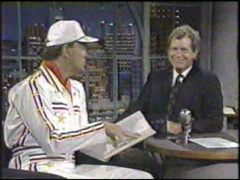 Superdave Osborne on Letterman, 1990