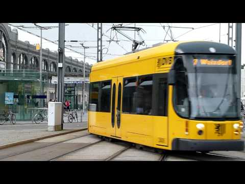Dresden Trams at Hauptbanhof