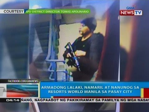 Armadong lalaki, namaril at nanunog sa Resorts World Manila sa Pasay City