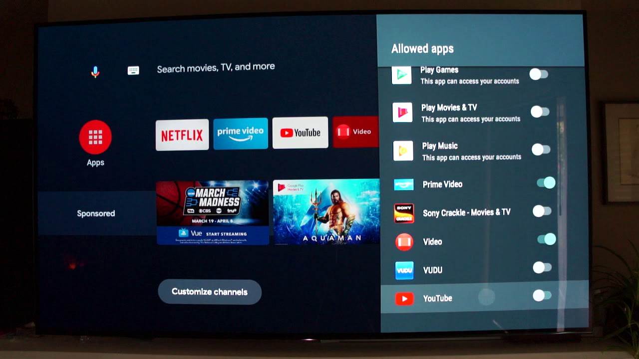 Set up a restricted profile and defeat banner ads on Android TV