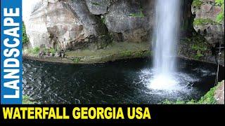 Rock City Gardens [Part 3] 104 feet (43m) high waterfall   Jarek in Lookout Mountain Georgia USA