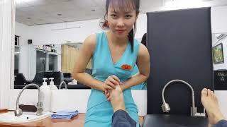 ASMR Public Agent Public CZECH STREETS Beautiful Hot Girl Hand Massage In Salon