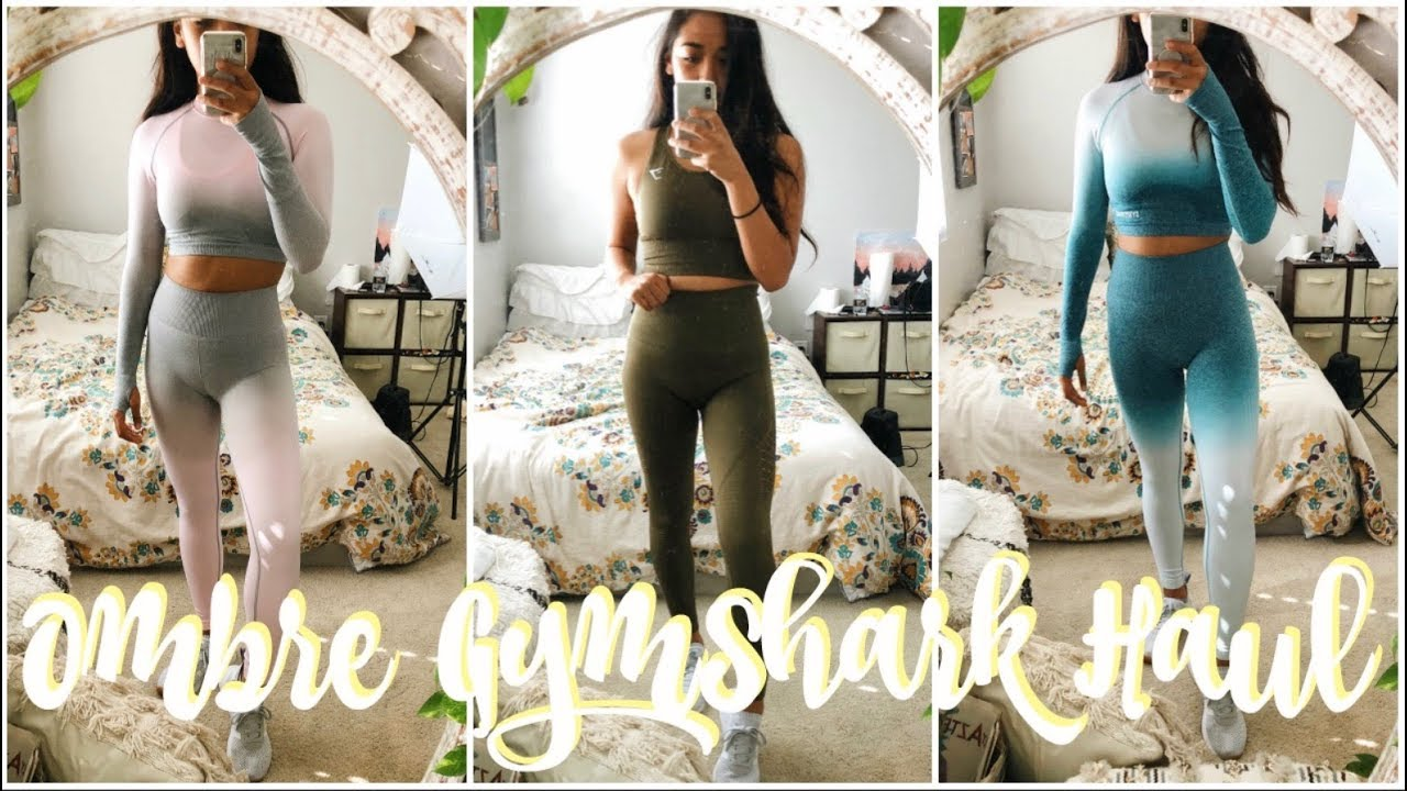 5f4ed87b47dbf NEW Ombre Seamless Gymshark Try On Haul - Video Más Popular