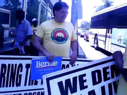 BERNIE SANDERS EVENT OUR RIGHTS VIOLATED