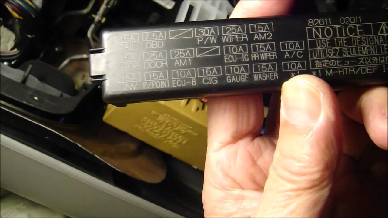 maxresdefault how to replace cigarette lighter fuse on 2006 toyota corolla youtube 2003 toyota corolla interior fuse box diagram at beritabola.co