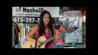 Caitlin Eadie playing Bost Harley Davidson for the NashvilleEar.com Songwriter Stage